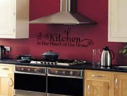 Red Walls In Kitchen - decals on the wall in kitchen afreakatheart