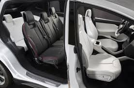 Seating Option Tesla Model X Update Prototypes In Fall Production Early 2015