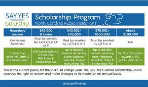 scholarships say yes to education guilford