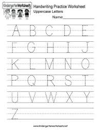 kindergarten letter x writing practice worksheet printable