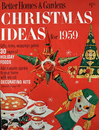 1959 better homes and gardens magazine christmas vintage