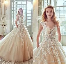 cheap wedding dress uk spose 2017 chagne 3d floral appliques wedding dresses a