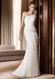 Greek Style Wedding Dresses One Shoulder Greek Style Wedding Dresses Miami The Wedding
