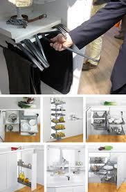 Space Saving Kitchen Designs Slick Swiss Space Saving Semi Automatic Storage Furniture From