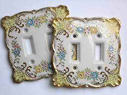 vintage shabby chic double light switch plate by cosmovalley