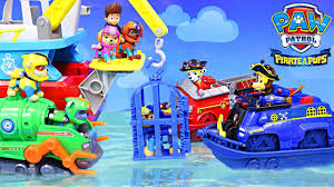 paw patrol sea patrol pirate pups capture chase cage pups