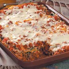 Meat Lasagna Recipe With Cottage Cheese by Beef And Spinach Lasagna Recipe Taste Of Home