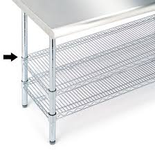 stainless steel work table with shelves stainless steel work table seville classics