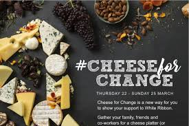 chagne ribbon march one creates cheese for change fundraising caign for white