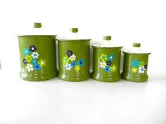 yellow canister sets kitchen 1970 yellow canister set with mod flowers canister sets kitchen