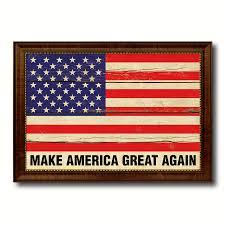 Patriotic Home Decor Make America Great Again Donald Trump Usa Vintage Flag Patriotic