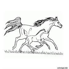 Coloriage cheval grand galop  JeColoriecom