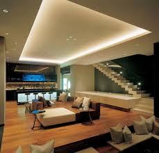 le wohnzimmer led 38 idées originales d éclairage indirect led pour le plafond