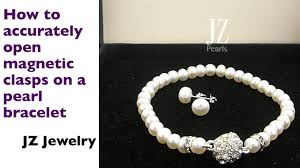 pearl bracelet clasps images How to open a magnetic clasp to prevent damage to a pearl necklace jpg