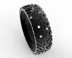 dã roulement mariage alliance de lor noir pneu de bande de roulement bague bande