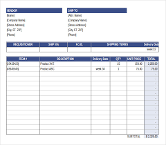 Free Excel Purchase Order Template Purchase Order Template Free Templates Free Premium Templates