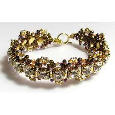 diy crystal bead bracelet images Alexa crystal gold base swarovski beadwork bracelet diy beading jpg