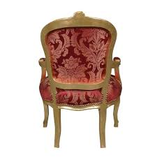 Fauteuil Rouge Pas Cher by Fauteuil Louis Xv Rouge Rococo Meuble Baroque