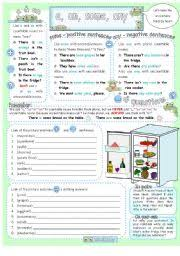 Countable And Uncountable Nouns Exercises Advanced Pdf Worksheet A An Some Any With There Is Are And
