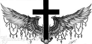 cross with wings tattoo by yankeestyle94 on deviantart