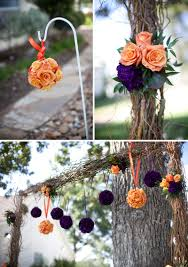 orange and purple backyard texas wedding every last detail