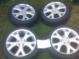 brand new mazda brand new mazda 3 oem 2008 snowflake rims with brand new rubber