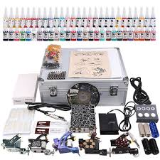 professional tattoo kit 4 machine gun power supply 56 color inks