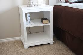Nightstand With Shelf White Nightstand Open Shelf Diy Projects