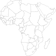 africa map black and white best photos of africa political map black and white black and
