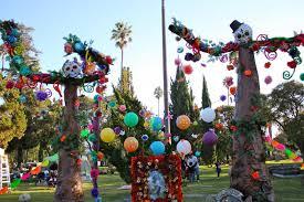 dia de los muertos decorations forever cemetery celebrates dia de los muertos neon