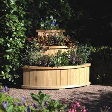 rowlinson marberry cascade wooden corner planter tiered planter