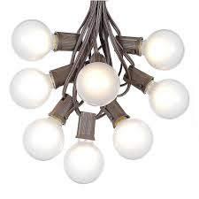 Outdoor Lighting String Bulbs by 100 Frosted G50 Globe String Light Set On Brown Wire Novelty