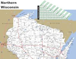 northern map map of northern wisconsin
