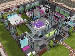 house four ground floor with front girly pink house sims