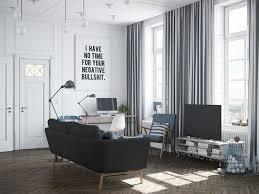 canapé gris foncé salle de séjour deco salon scandinave canape gris fonce déco