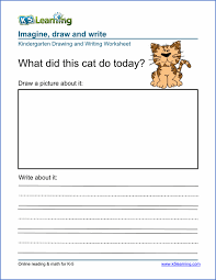 drawing and writing worksheet for preschool u0026 kindergarten free