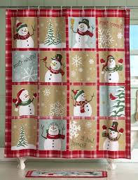 Snoopy Shower Curtain by Christmas Amazingmas Bathroom Sets Picture Inspirations Shower