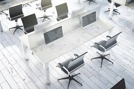 architecte d int ieur bureaux dessus coworking blanc d intérieur de bureau illustration stock