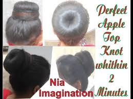 find a hairstyle using your own picture easy perfect top knot or top bun within 2 minutes without mirror