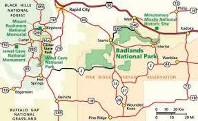 south dakota road map directions badlands national park u s national park service