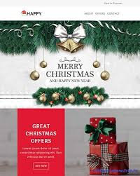 20 best christmas u0026 new year email templates 2017 frip in
