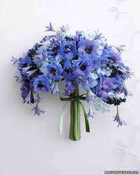blue wedding bouquets blue wedding bouquets martha stewart weddings