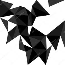 dark triangle vector background or pattern flat white black and