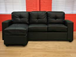 Black Faux Leather Sofa Decorate Your Home With Black Leather Corner Sofa