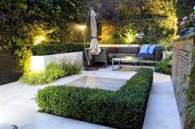maintenance free garden ideas modern low landscape patio and