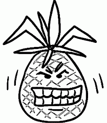free pineapple coloring tags pineapple coloring