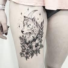 illustrative wolf tatoos