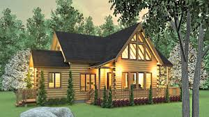 download modern log cabin house plans adhome