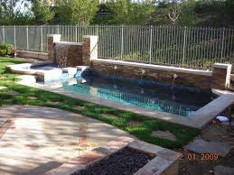 best tropical backyard swimming pool and spa waterfall design