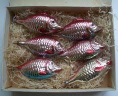 antique glass fish ornament coastal nautical